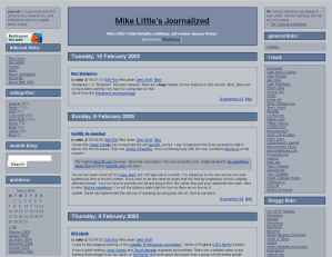 screenshot of journalized theme